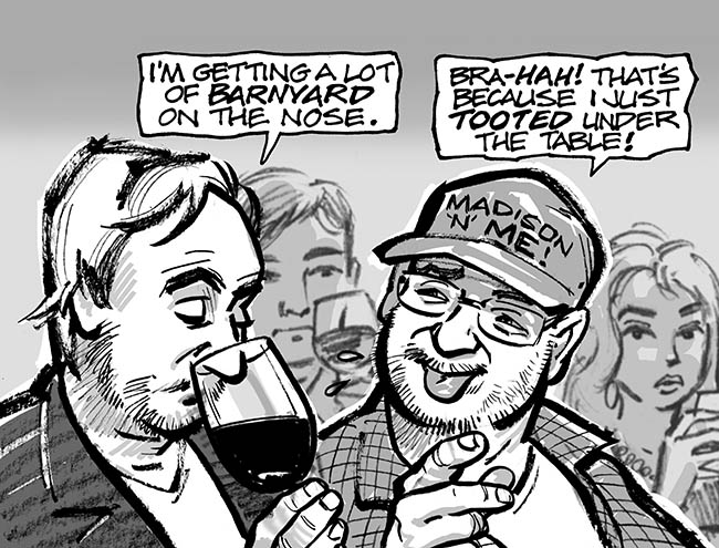 an excerpt from the page I contributed to Ken and Andy's WFMU graphic novel